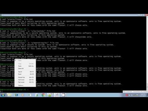 Unix shell scripting combine multiple sed command part 3