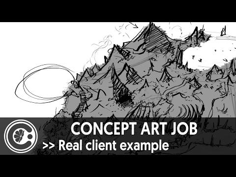 Concept art job - Real client example