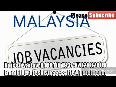 jobs in malaysia for carpenter[ salary 25000 to 31000 k]