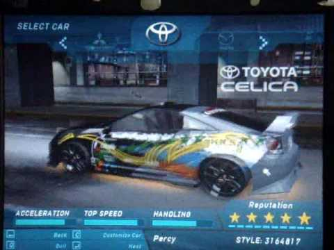 Need For Speed Underground car customizations