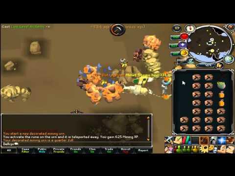 Runescape - mining 90k+ per hour - low alch mining 2012