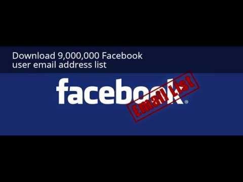 Download 9,000,000 Facebook user email address list