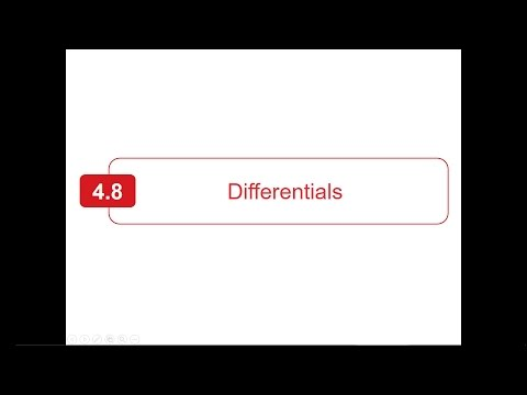 Section  4.8 - Larson Calculus - Differentials