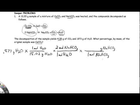 Using Stoichiometry to find the composition of a mixture