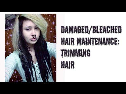 Damaged/bleached hair maintenance: Trimming hair