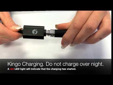 Charging your Oksmokey Kingo Battery.