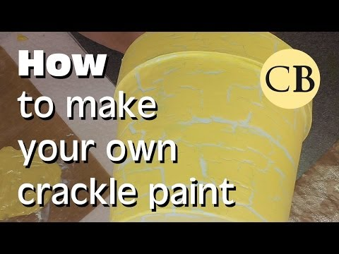 How To Make your own Crackle Paint