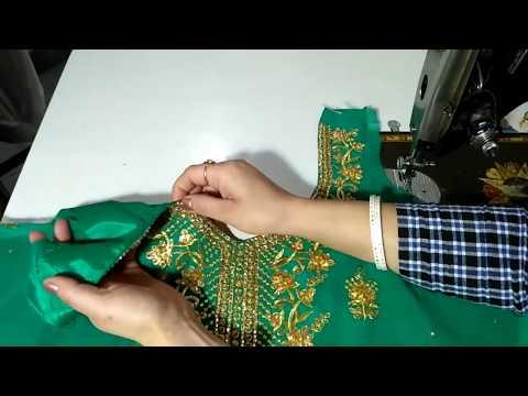 How to cut & stitch readymade neck design