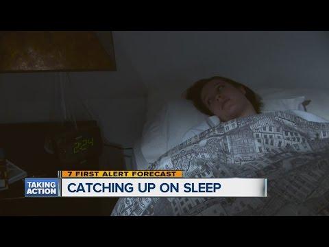 Catching up on sleep