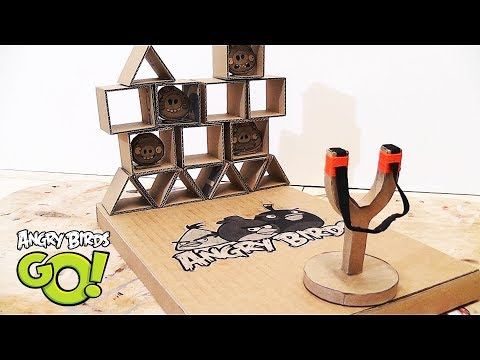 Wow! How To Make Angry Birds game from Cardboard|| Amazing Toy DIY