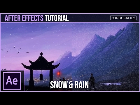 After Effects Tutorial: Create SNOW and RAIN with Particles