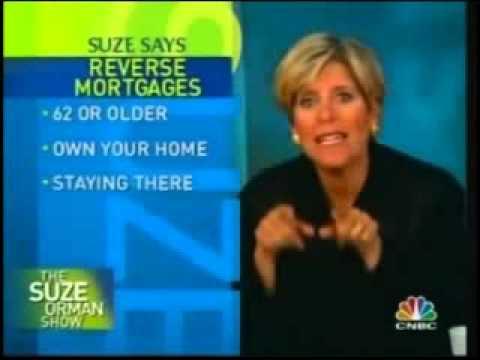 Reverse Mortgage per Suze Orman's