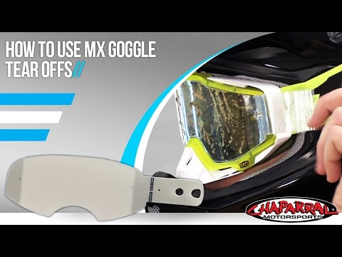 Chaparral Motorsports: How to use and install motorcross tear offs