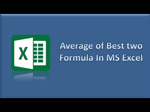 Average of Best Two Formula in MS Excel