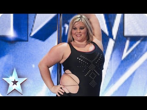 Xxx Mp4 A Pole Dancing Masterclass From Emma Haslam Britain 39 S Got Talent 2014 3gp Sex