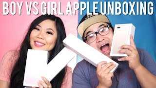 BOY VS GIRL APPLE PRODUCT UNBOXING: IPHONE 7 PLUS, SERIES 1 IWATCH, ACCESSORIES