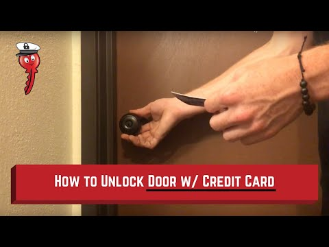 How To Credit Card a Door | Locked Out of House | Captain Lock Pick Video
