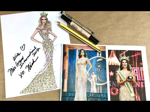 Sketching Miss Grand International 2017