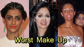 Worst Bollywood Celebrities Make Up Fails | Shocking