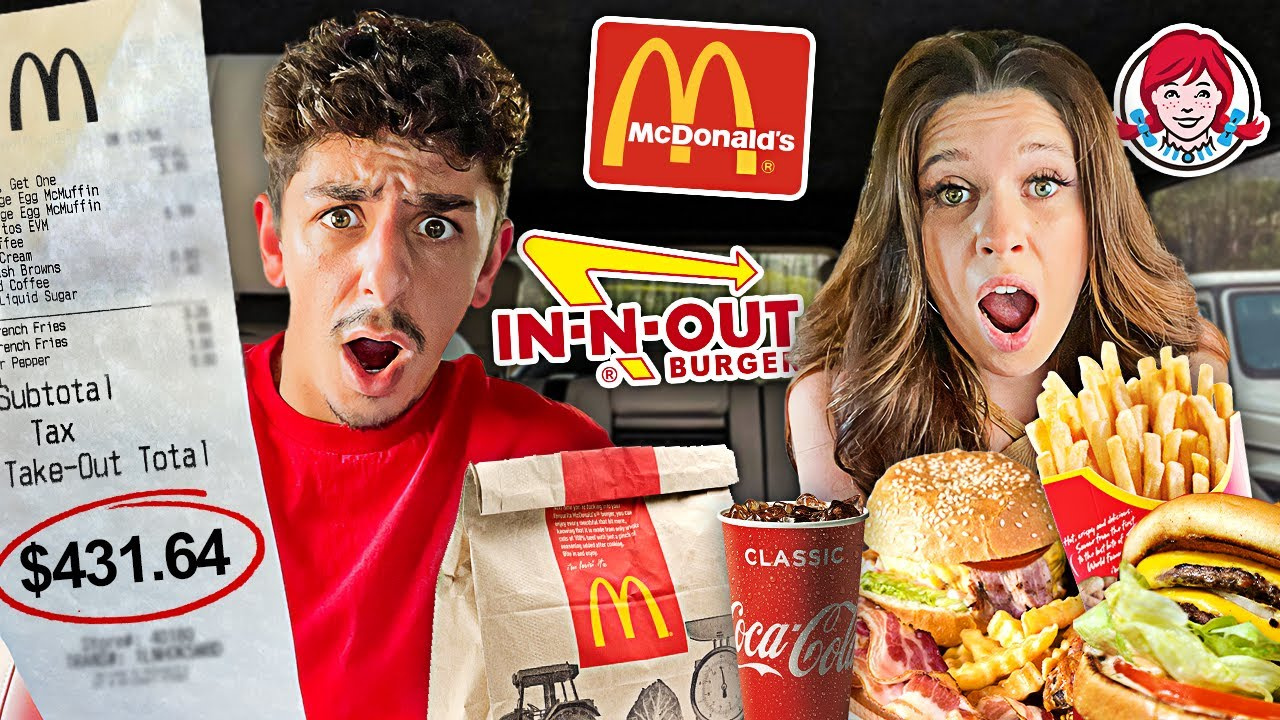 We Let The Person in FRONT of Us DECIDE What We Eat for 24 HOURS!!