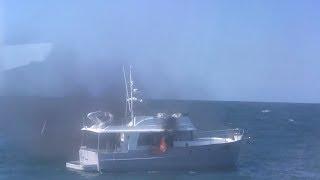 Burning Boat Rescue off of Key West, FL - 11/20/2017