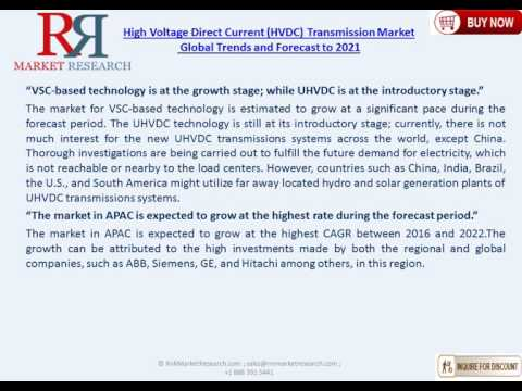 High Voltage Direct Current HVDC Transmission Market To 2021