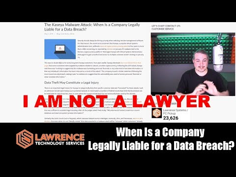 When Is a Company Legally Liable for a Data Breach?