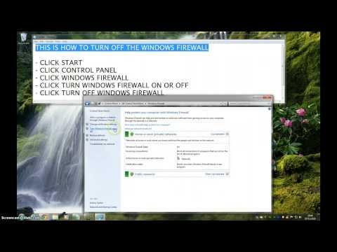 How To Turn Off Windows Firewall - Windows 7