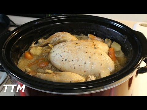 Whole Chicken Dinner in the Crock Pot Slow Cooker~How to Skin a Chicken
