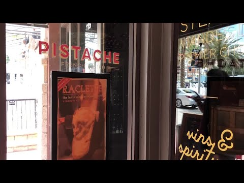 Video: Raclette cheese at Pistache French bistro