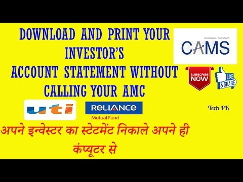 How to get your investor's Account statement |MUTUAL FUNDS|