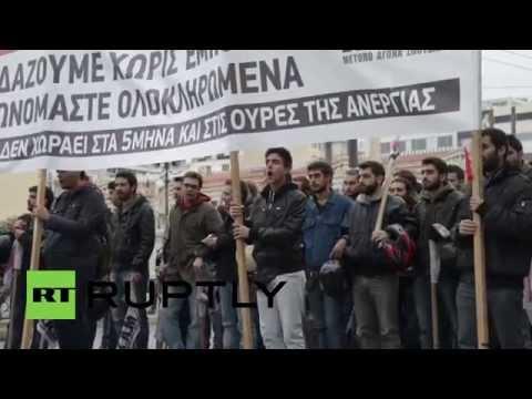 Grecia, in 30mila hanno manifestato contro le politiche della troika