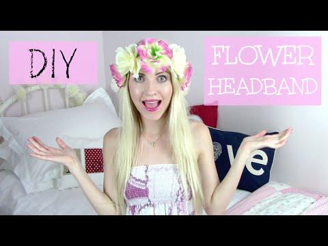 DIY Flower Headband | Rebecca Coco