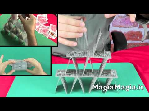 CASTELLO DI CARTE  how to make a house of cards Card Tower