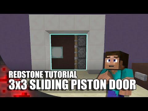 Minecraft: 3x3 Sliding Piston Door!