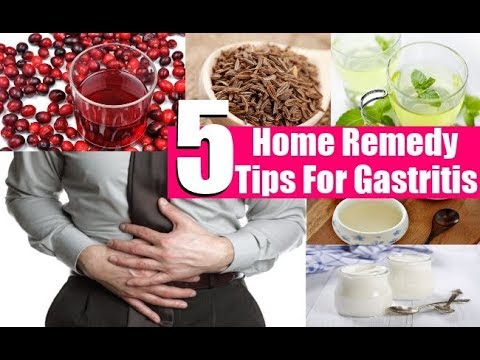 Gastritis Symptoms: 5 Top Home Remedies for Gastritis Pain.
