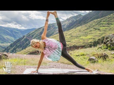 Best Yoga Workout  ♥ Butt & Arms Toning   Pisac, Peru