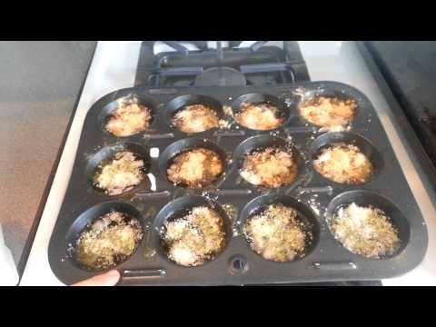 Making egg white cups and turkey burgers