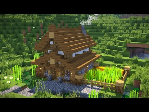 Minecraft: How To Build A Small Modern House Tutorial (Easy Survival Minecraft House )