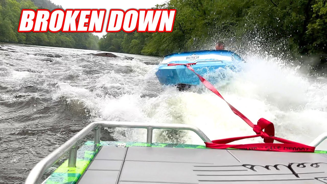 A BAD Situation Turns Worse... Stranded in Tennessee River Rapids With a Broken Jet Boat!!!