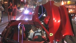 Lewis Hamilton Turns Heads In His $1.2M Ferrari LaFerrari At Kevin Hart's B-Day Bash