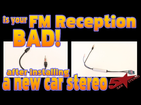 Is the FM reception bad after installing a new car stereo a German car