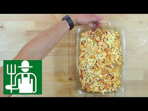 Buffalo Cauliflower   Bacon Shredded Chicken   Keto Side Dish Recipe