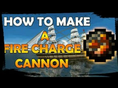 👉Minecraft Pe: How To Make A Rapid Fire Charge Cannon!? (Used In Pirate's Ships)