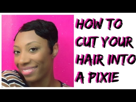 How To Cut Your Own Hair Into A Pixie Cut or Short Cut