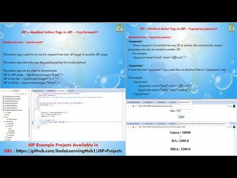 Lesson - 10 : JSP - JSP Standard Action element - forward, param, params