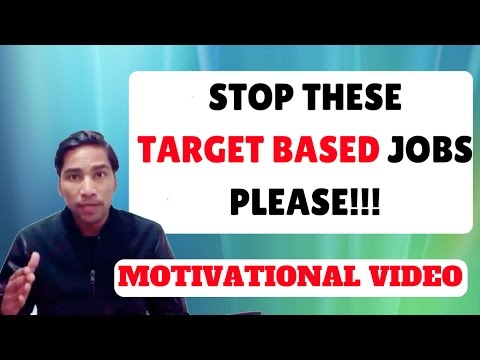 STOP THIS TARGET BASED JOB CULTURE.. Hindi Motivational a messge to Corporate!