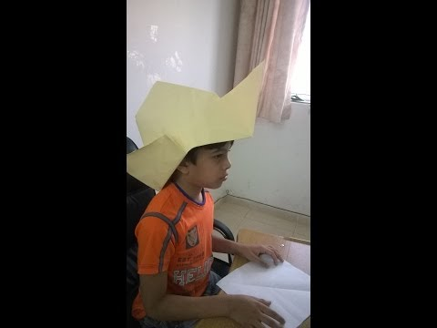 Making a cowboy Hat : Origami 11
