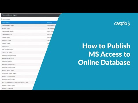 How to Publish MS Access to Online Database
