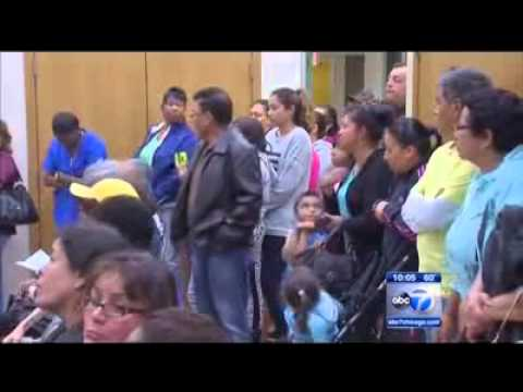 ABC 7: Families Hold Waukegan Vigil to Protect Home Care & Child Care After Rauner's Gov't Shutdown